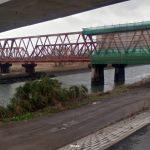 熊本県 緑川鉄橋下