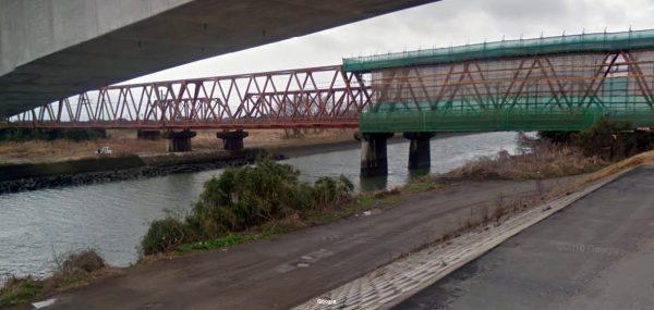 熊本県 川釣りポイント 緑川鉄橋下