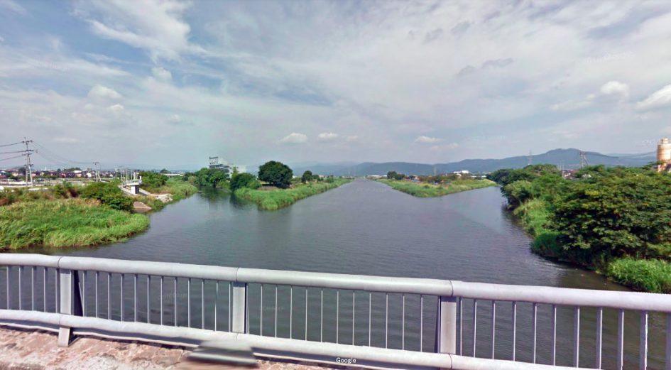 熊本県 川釣りポイント 矢形川(木山川との合流地点近辺)